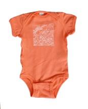 Downtown Map Papaya Baby Onesie