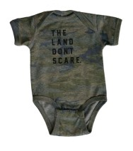 Land Don't Scare Baby Onesie
