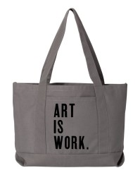 Art Is Work Grey Seaside Boat Tote