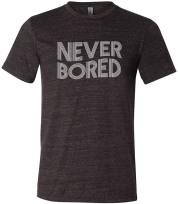 Never Bored Charcoal Black Uni Tee