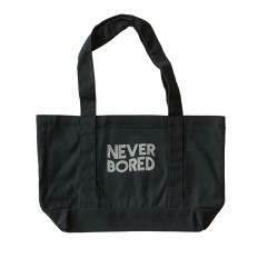 Never Bored Washed Black Boat Tote